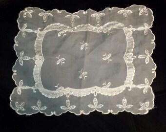 Vintage Sheer White Doily 1960s Handmade, #5