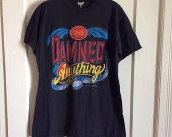 Vintage 1986 the Damned Anything Punk Rock Band T-shirt Large