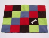 Solid squares dog blanket