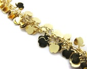 Gold Plated Charmed Chain Bracelet - Apples