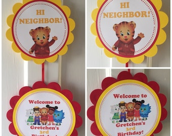 Daniel Tiger Party Door Sign