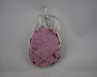 Pink Druzy Pendant