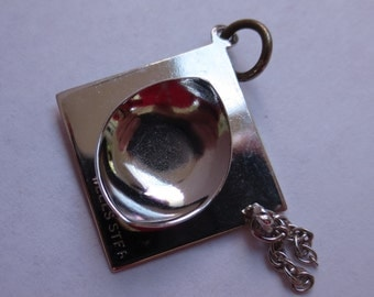 MORTAR BOARD WELLS Sterling Silver Charm or Pendant - Graduation