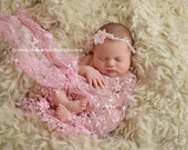 Pink Tassels Lace Baby Wrap Newborn Photography Prop