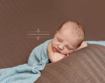 Aqua Blue Green Stretch Knit Wrap Newborn Baby Photography