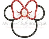 Minnie Mouse Applique, Minnie Mouse Head Applique, Minnie Mouse Birthday, Embroidery Design Instant Download