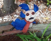 Worm inspired mini art doll plush labyrinth felt