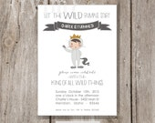 WILD THINGS Party Printable Party Invitations - I design - Wild Rumpus - YOU Print