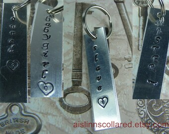 BDSM Gorean Keychain Tag