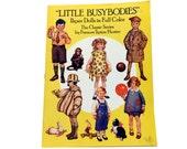 Vintage Paper Dolls, Little Busybodies, Frances Tipton Hunter, Paper Doll Plates, Paper Doll Dress, Paper Doll Kimono, Paper Doll Ephemera