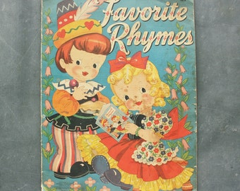 Antique Favorite Rhymes 1942 Picture Book