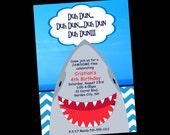 Shark Birthday Invitation, Printable Party Invite