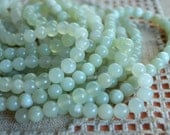 100pcs 4mm Sea Green New Jade Natural Gemstone Beads 16 Inches Strand