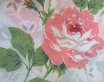 Semi Sheer Vintage Curtains Window Panels Pink Morning Rose Unfinished Fabric