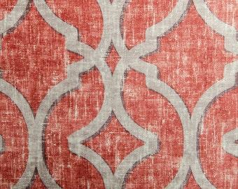 Nuri Cerise lattice red distressed velvet decorative pillow cover
