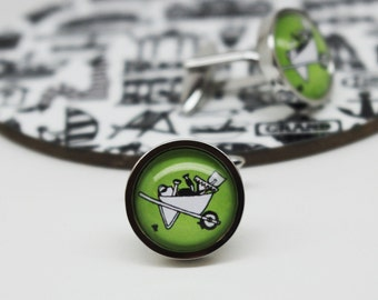 Gardening Cufflinks - Gifts for gardeners - Gardener gift - Gifts for him