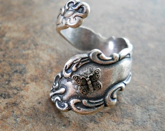 Tiny Butterfly Ring in Silver, The ORIGINAL Exclusive Design Only by Enchanted Lockets