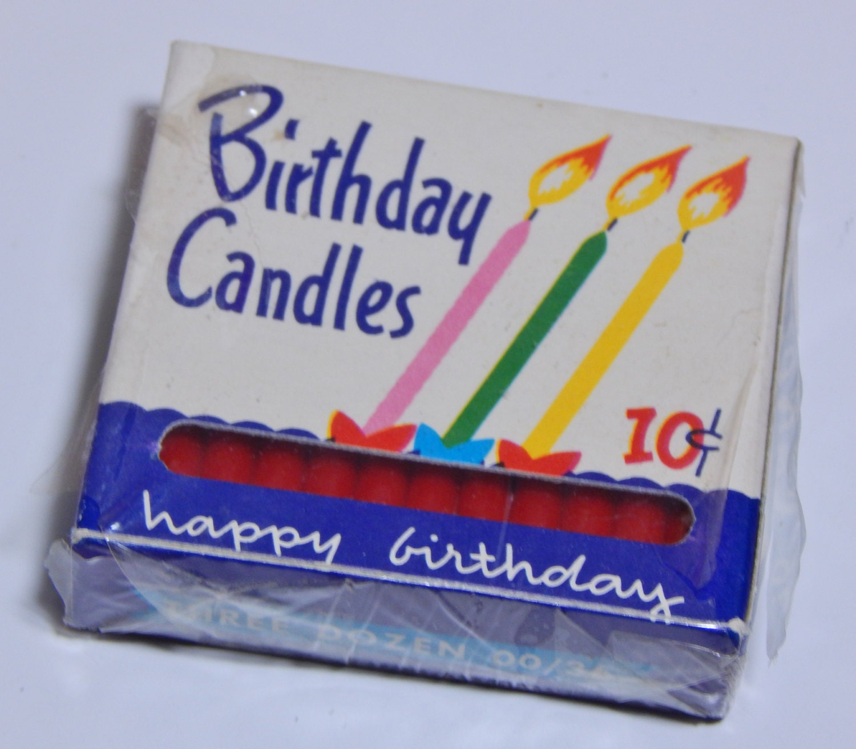 Vintage Birthday Candles 30