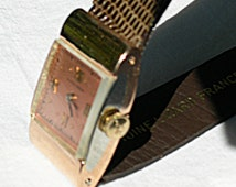 Sale! Rare VINTAGE Deco ULYSSE NARDIN 18k Gold Manual Wind Watch  - Rose Gold, White Gold, Robert Cart  Movement
