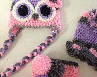 Owl hat set