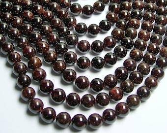 Garnet  - 10 mm round beads - full strand - 38 beads - RFG219