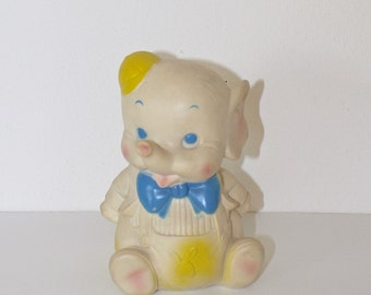 Vintage 1960s Rubber Squeak Toy . EDWARD MOBLEY Collectible 1961 Elephant by Arrow Rubber Co. . Baby's Room Decor