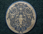 Under the Sea on Cowhide Leather Iron on Patch