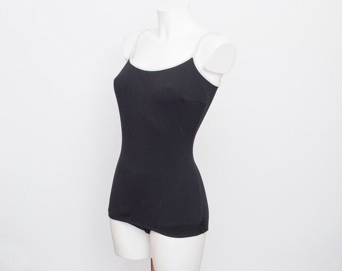 NOS Vintage swimsuit Size S black and white