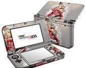 Custom nintendo 3DS/XL 2DS Decal Sticker Skin - Queen of cards
