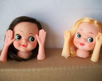 Vintage Japan Plastic Doll Head**