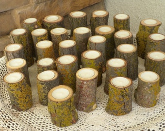 30 wood Tealite Tea light Candle Holder  Perfect for Weddings, Christmas Decorations, Centerpieces