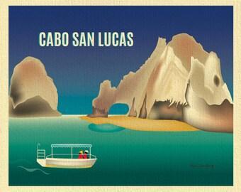 Cabo San Lucas Print, Lover's Beach Cabo, Mexico Art Print, Horizontal Travel Wall Art, Mexico Honeymoon Vacation Art - style E8-O-CAB