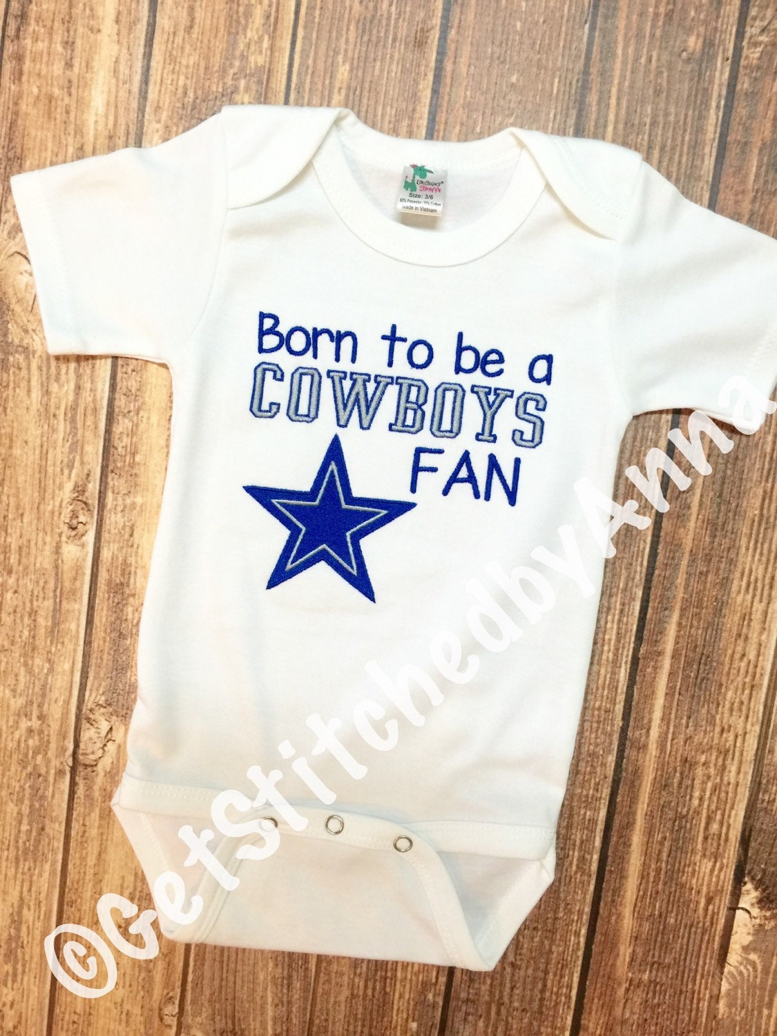 Dallas Cowboys baby onesie Born to be a Cowboy fan onesie
