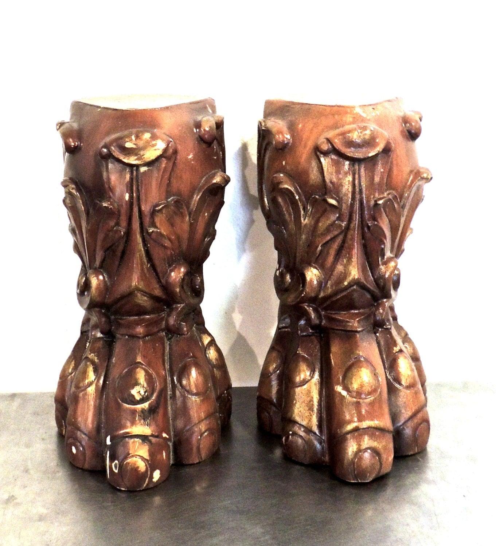 Vintage Claw Foot Furniture Legs Ornate Wood Furniture Feet