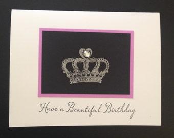 Beautiful Birthday Crown Card