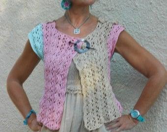 Crochet pattern Wrap cardigan - Haakpatroon overslag vestje
