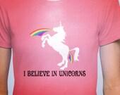 I believe in Unicorns Spin Class Jill Kargman Bravo TV Odd Mom out  Shirt Tshirts American Apparel Unicorn Artwork by Lucy Dynamite