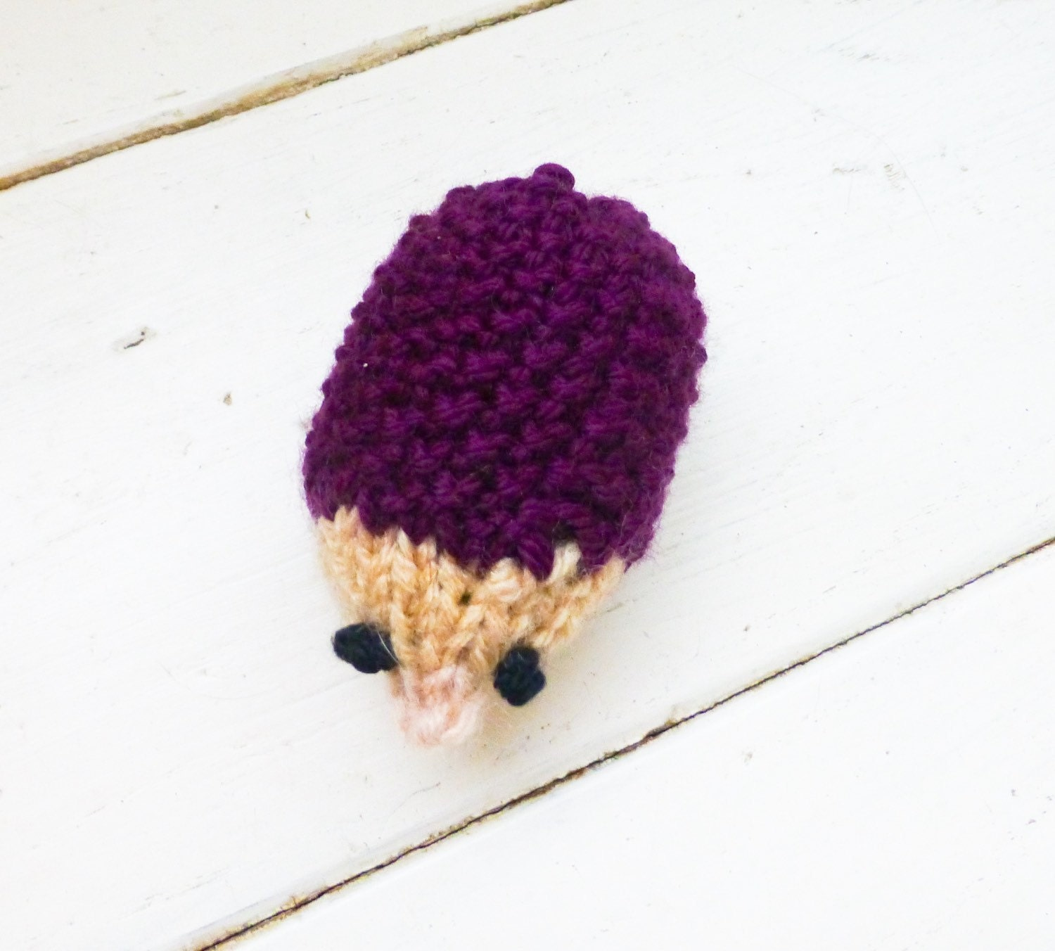 Stuffed Hedgehog Knitting Pattern : Hedgehog stuffed animal knit hedgehog amigurumi animal mini