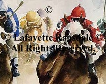 Home Stretch Horse Racing Print Lafayette Ragsdale