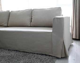 custom ikea kivik chaise slipcover long skirt in by comfortworks. Black Bedroom Furniture Sets. Home Design Ideas
