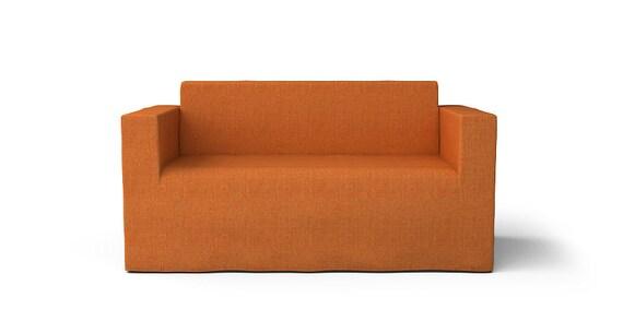 Ikea Klobo 2 Seater Sofa Slipcover Only In Kino Orange Fabric
