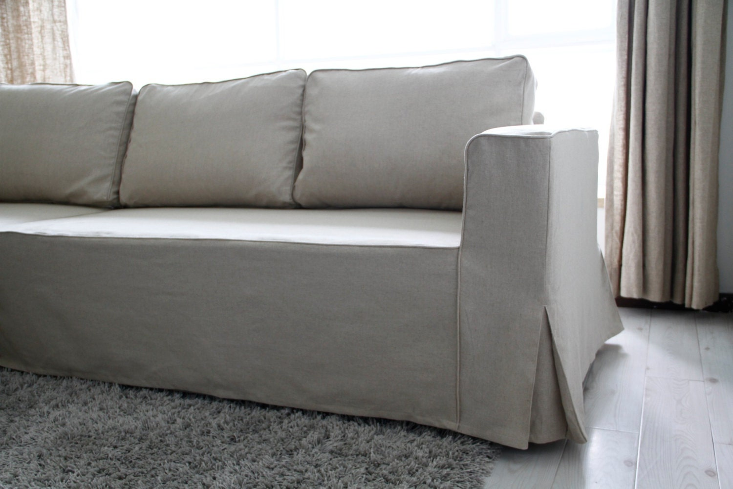 Custom ikea manstad sofa bed cover loose fit style by for Ikea sofa slipcovers discontinued