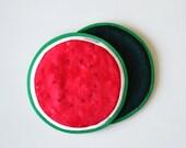 watermelon potholders - fruit summer kitchen potholders - backyard bbq garden potholders - watermelon slice - fruit potholders - gardenparty