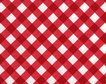 """LAMINATED Cotton  - Gingham Picnic Red, 56"""" Wide, BPA & PVC Free"""
