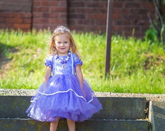 Sofia the first dress inspired gown dressup vacation girl