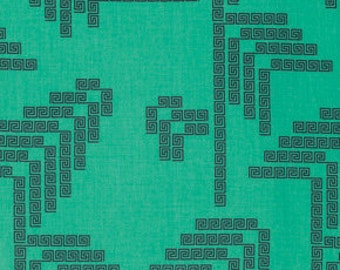 SALE Labyrinth in jade from Fibs & Fables by Anna Maria Horner for free spirit