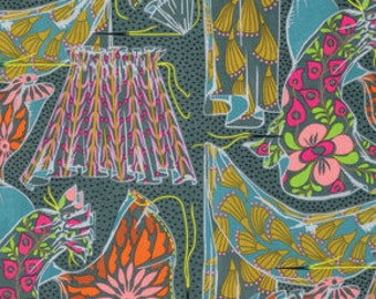 SALE Dressmaker in flint from Fibs & Fables by Anna Maria Horner for free spirit