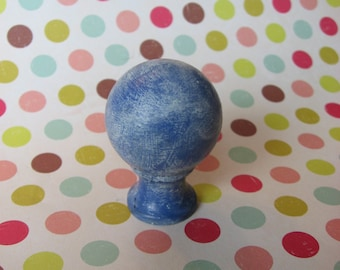 Blue Lamp Finial Threaded Standard Modern Size Available Lamp Lighting Accent Deep Cobalt Blue for Lamp Accent at Top
