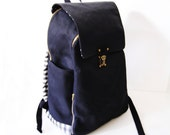 SALE-Backpacks-Japan light waxed cotton canvas