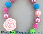 Little Girl Chunky Necklace, Little Girl Bubblegum Necklace, Children Necklace, Girl Chunky Necklace, Chunky Bead Necklace, Photo Prop